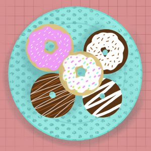Drawing of Donuts (or doughnuts!)